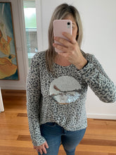 Load image into Gallery viewer, Mimi Sequin Top - Grey Leopard