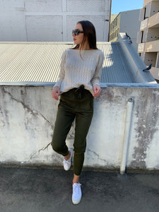 Dylan Knit Pants - Khaki