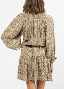 Jessie Dress - Khaki Leopard