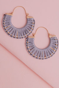 Kara Earrings Grey
