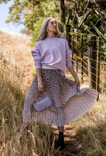 Load image into Gallery viewer, Stella + Gemma - Pleated Leopard Skirt - Pink