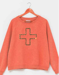 PRE-ORDER - Stella + Gemma Melon w/ Cheetah Cross Sweater