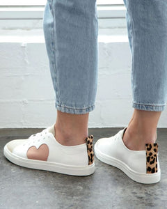 Heart Leather Sneaker - Peony
