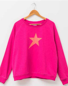 PRE-ORDER - Stella + Gemma Pop Sugar Pink w/ Star Sweater