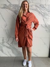 Load image into Gallery viewer, Tamara Shirt Dress - Rust