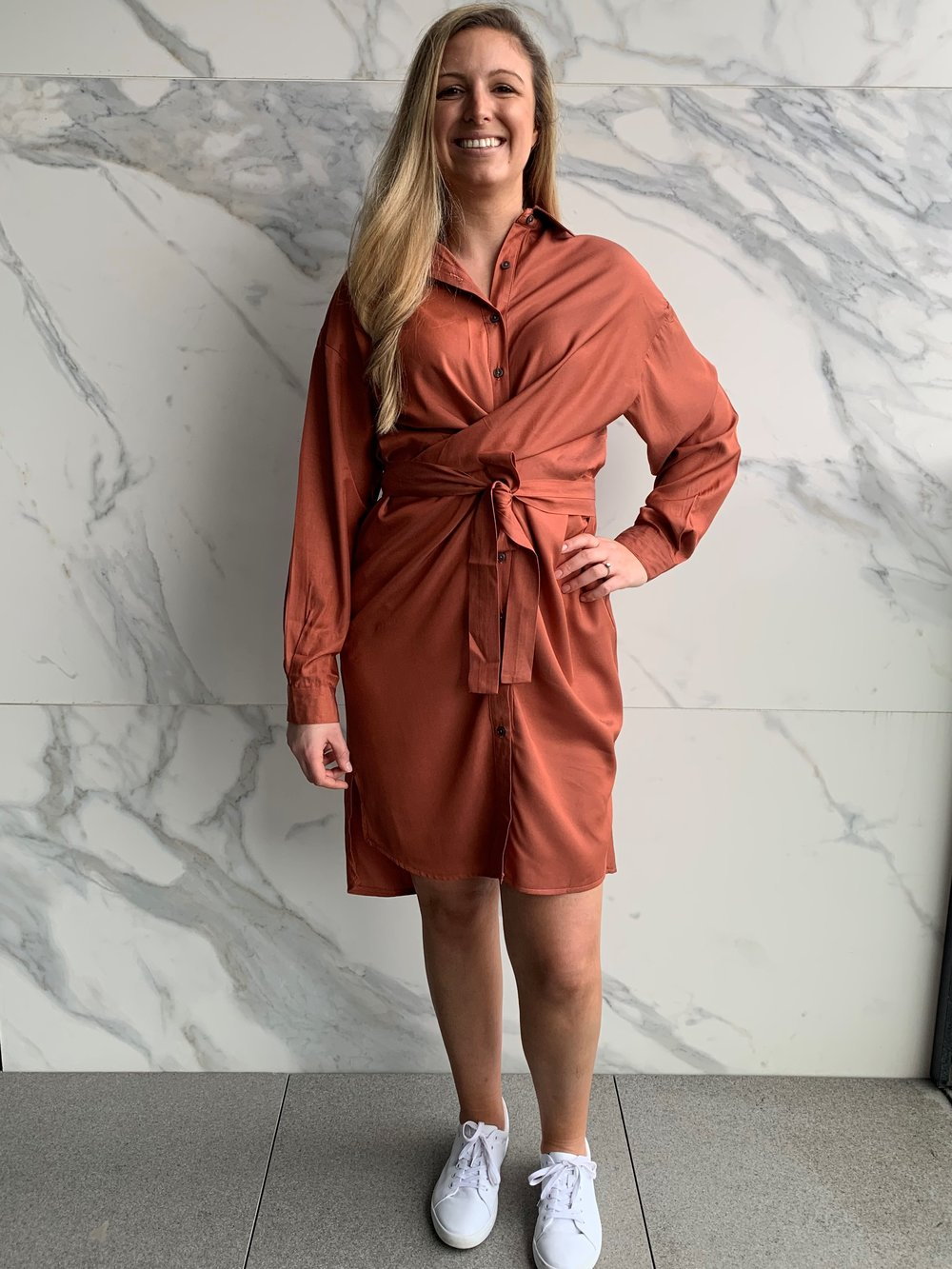 Tamara Shirt Dress - Rust