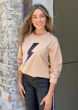 Load image into Gallery viewer, Dasha Camel Bolt Sweater