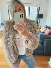 Load image into Gallery viewer, Lola Fluffy Jacket - Mushroom