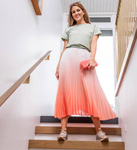 Load image into Gallery viewer, Stella + Gemma - Watermelon/White Ombre Skirt