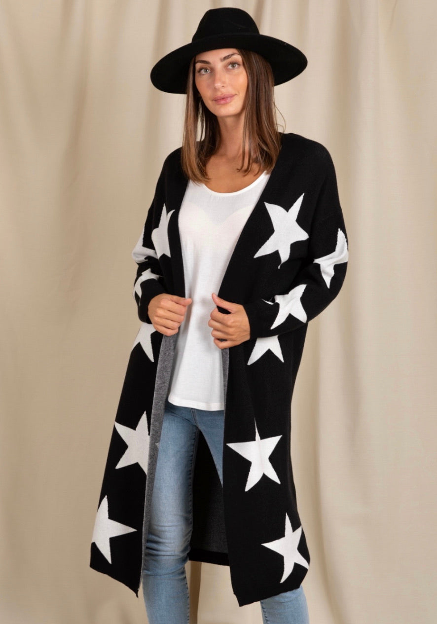 Starry Night Cardigan - Black