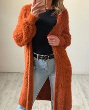 Load image into Gallery viewer, Lexi Fluffy Cardigan - Burnt Orange