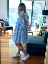 Load image into Gallery viewer, Audrey Dress - Blue Gingham