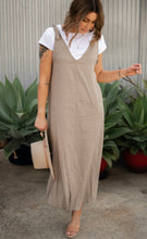 Load image into Gallery viewer, Brooklyn Pinafore Dress - Sand
