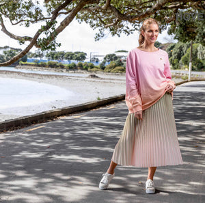 Stella + Gemma - Chive/Rose Ombre Skirt