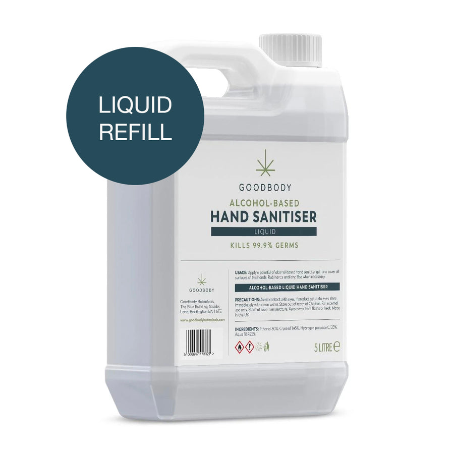 Hand Sanitiser 80% - 5 Litre Liquid - Refill Bottle