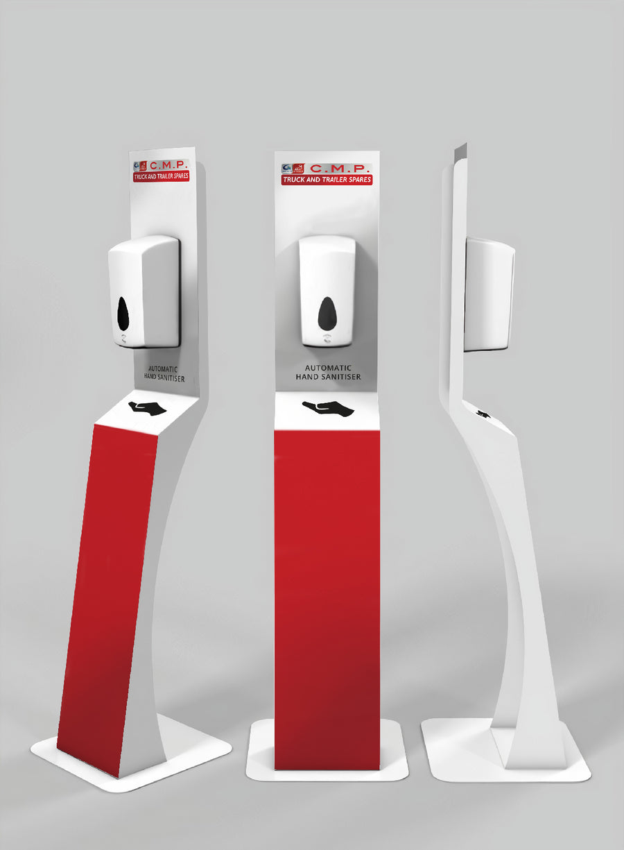 Touch Free Floor Standing Sanitiser Station
