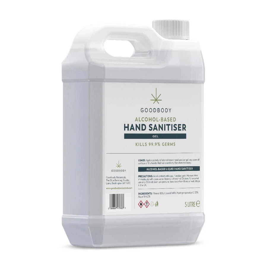 Hand Sanitiser 70% 5 Litre Gel Refill Bottle