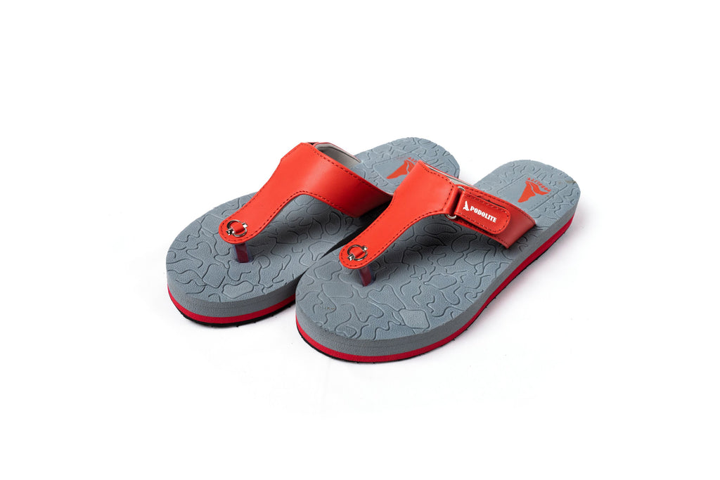 Podolite Dual Soft Slippers (Ladies - Red)