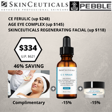 Load image into Gallery viewer, FACE & EYE ANTI-AGING DUO : CE FERULIC + AGE EYE COMPLEX + COMPLIMENTARY SKINCEUTICALS REGENERATING FACIAL