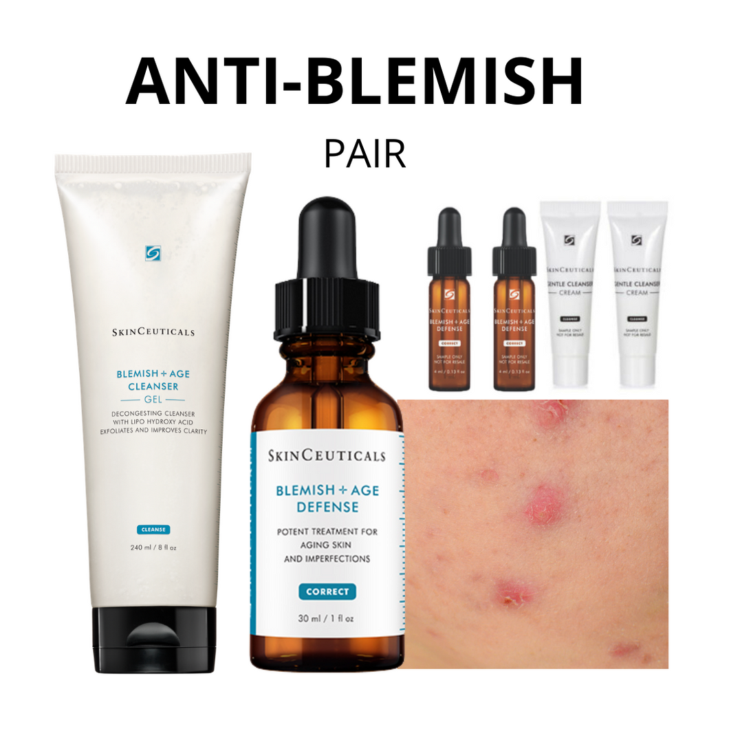 ANTI-BLEMISH SKINCEUTICALS PAIR 12.12 (Free Blemish & Age Serum + Cleanser worth $51.50)