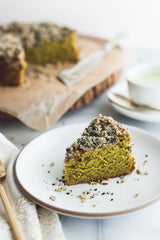 Matcha Gluten-free Cake with Black Sesame Streusel