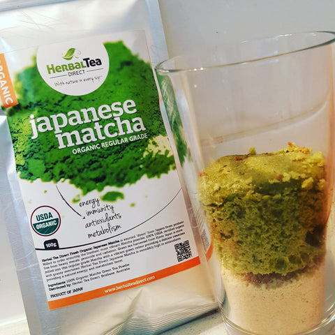 Matcha Green Tea Cake Mash-up