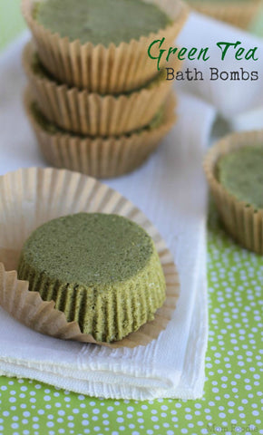 Matcha Green Tea Bath Bomb Recipe