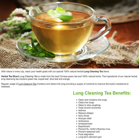 Lung Cleaning Tea - Best Tea For Smokers Cough & Asthma Sufferers