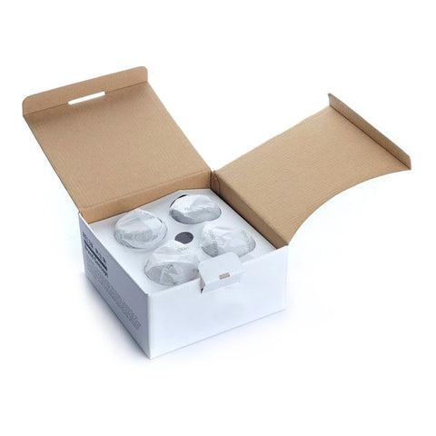 88 ml Double Wall Glass Cup 4pk Packaging