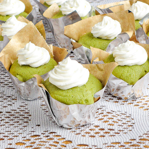 Matcha Green Tea Cupcakes With Buttery Honey Buttercream Recipe
