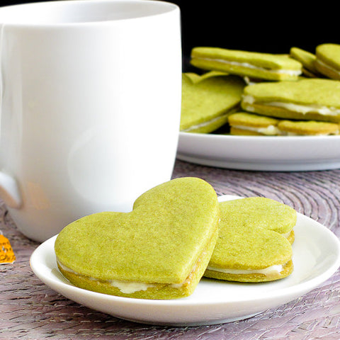 Honey Green Tea Sandwich Cookies Recipe