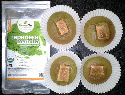 Matcha & White Chocolate Muffins