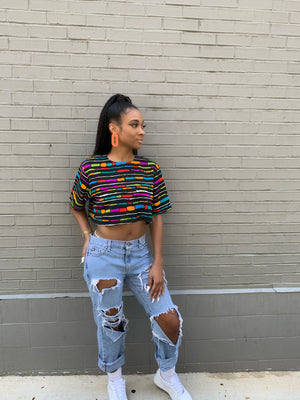 Jordan Black Crop Blouse