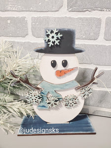 DIY Wood Snowman Kit