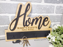 Load image into Gallery viewer, Wall Hanging Wood Key Holder - Personalized or non-Personalized