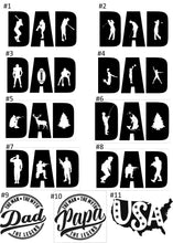 Load image into Gallery viewer, USA, Dad, Papa, Wood Cell Phone Stand