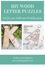 Load image into Gallery viewer, DIY Geometric Letter Puzzle Kit