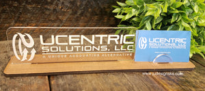 Personalized Nameplate and Business Card Holder