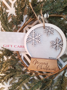 Christmas Ornament Gift Card & Money Holders