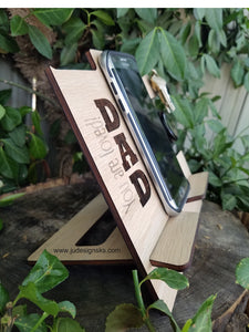 USA, Dad, Papa, Wood Cell Phone Docking Station