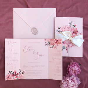 Flora gatefold invitation