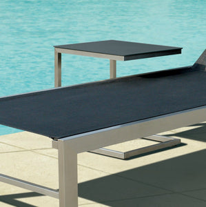Pebble Stainless Steel Side Table - Chaise
