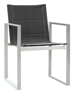 Pebble Stainless Steel Arm Chair