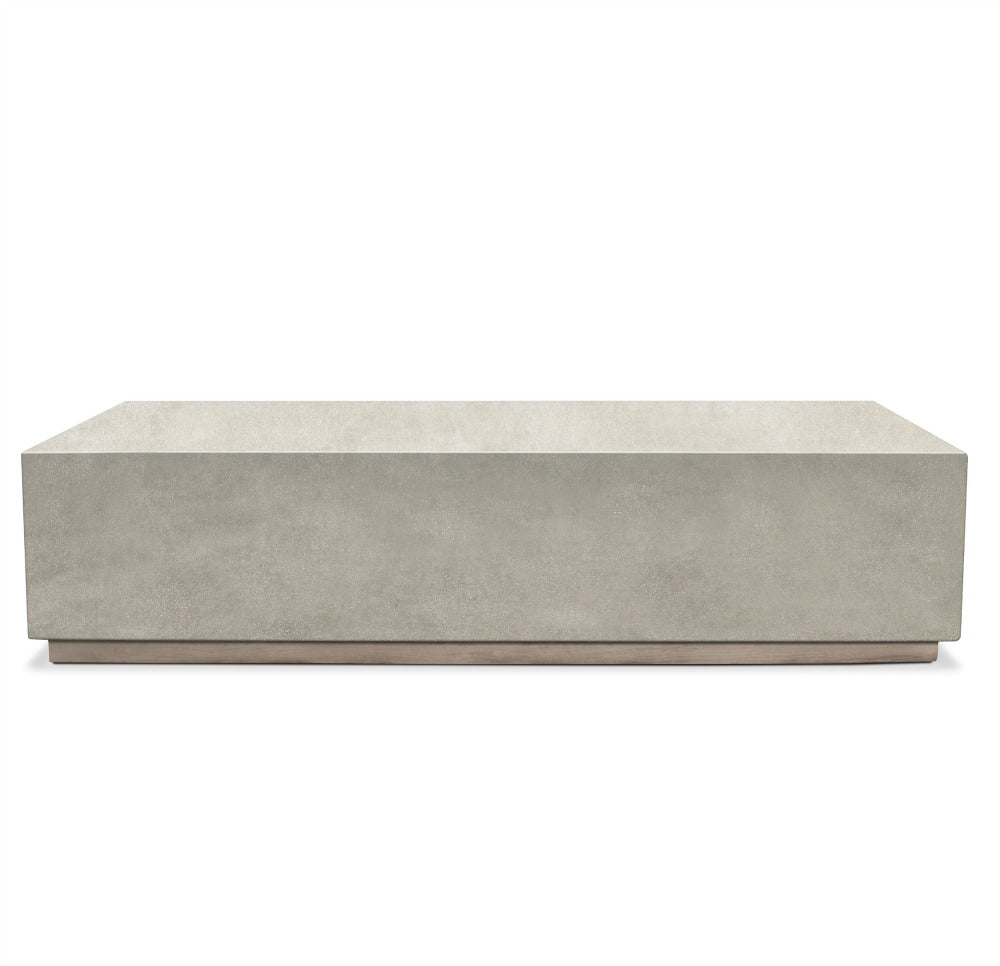 Concrete with Greyed Teak Base Coffee Table