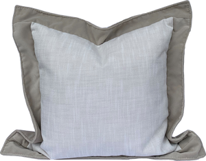 Outdoor - Daniella Pillow - Rollo Linen - Velvet Flange