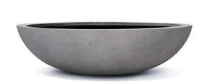 Casualife Planter - Low Bowl - Light Grey