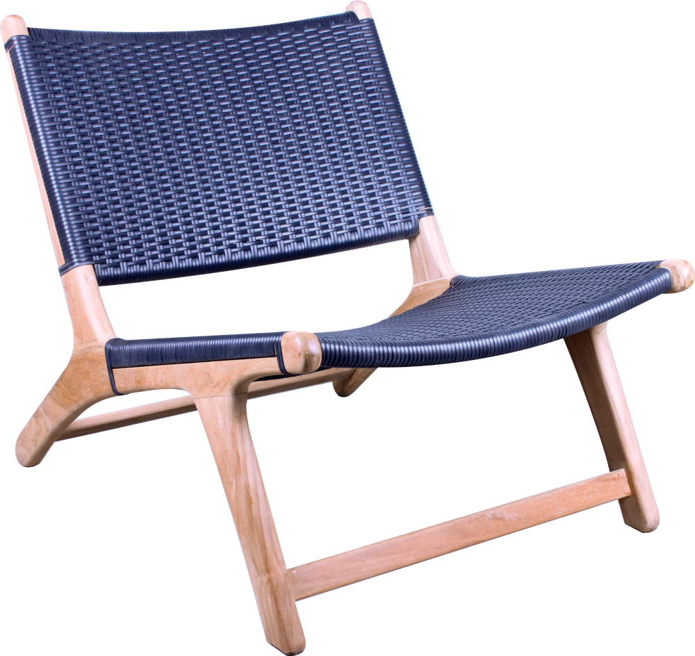 Relax Chair - Black Flat Weave