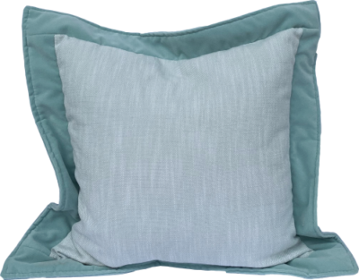 Outdoor - Daniella Pillow - Rollo Mist - Velvet Flange