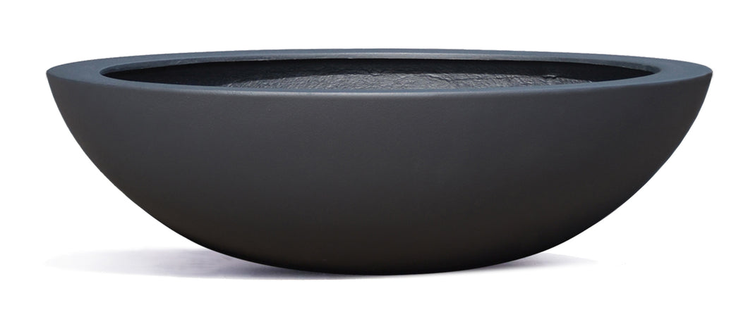 Casualife Planter - Low Bowl - Black