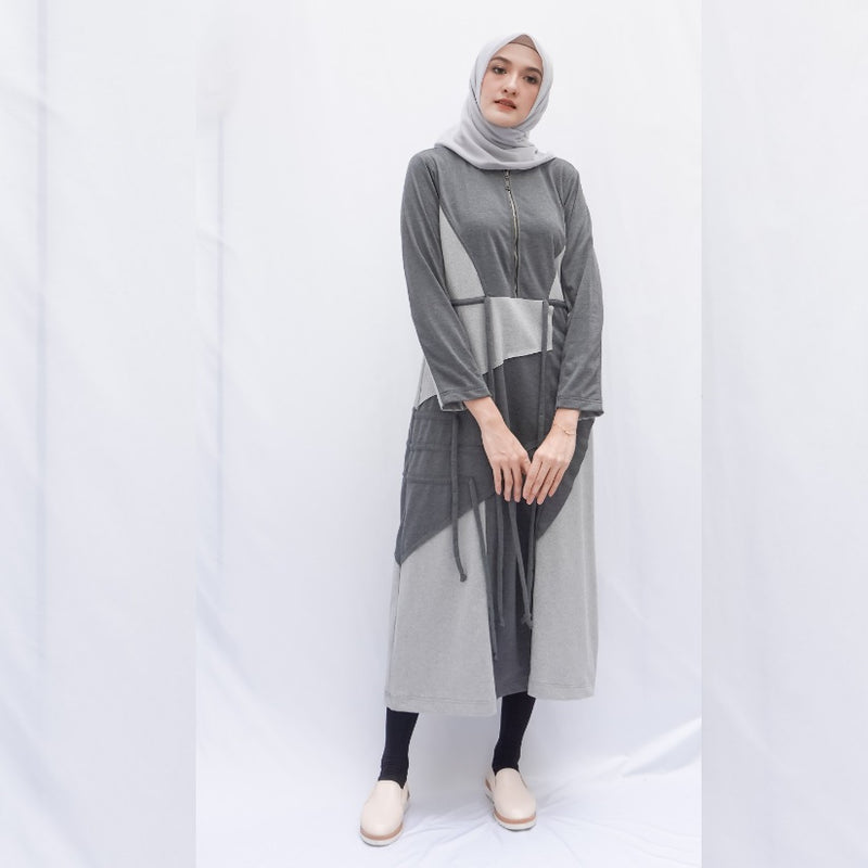 Sunny Long Sporty Dress Dark Grey